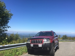 Little Red Wagon on Roan Mountain