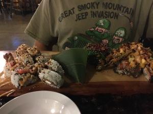 Sushi. LOTS of sushi.